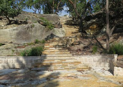Sawnstone bush steps